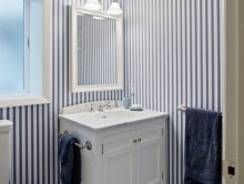 Banyo Çizgili Duvar Kağıdı | Duvar Kağıdı